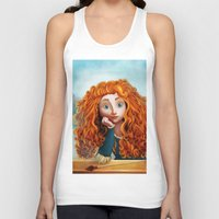 merida Tank Tops featuring Merida The Brave by This Is Niniel Illustrator