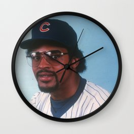 """Leon """"Bull"""" Durham : First Base / Outfield : Cubs : Vintage Baseball Photograph Wall Clock"""