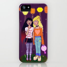Girls Rule The World iPhone Case