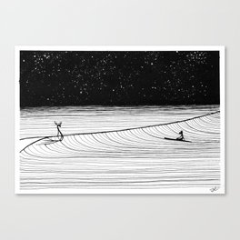 Night Slide Canvas Print