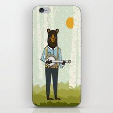 Bear's Bourree - Bear Playing Banjo iPhone & iPod Skin