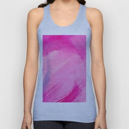 Watercolors Abstract Pink Unisex Tank Top