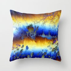 ABSTRACT - My blue heaven Throw Pillow