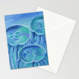 Striated Jelly Moons Stationery Cards