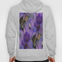 Vintage Painted Lavender Lily Hoody