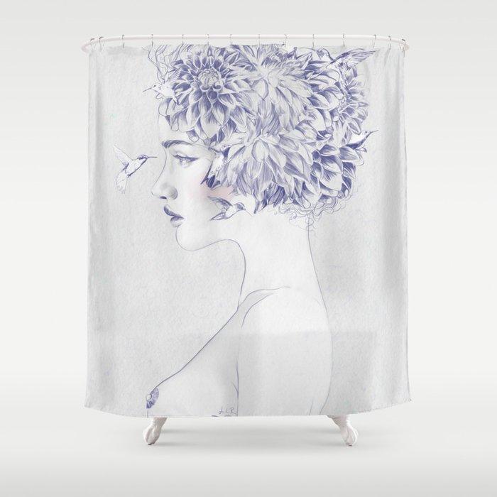 Dahlia Shower Curtain By Jennylizrome