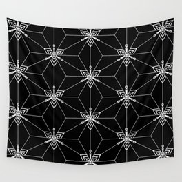 Graphic mosaic Wall Tapestry