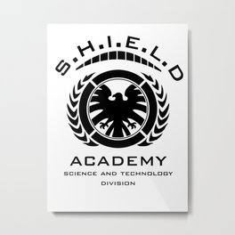 S.H.I.E.L.D Academy > Science and Technology Division Metal Print