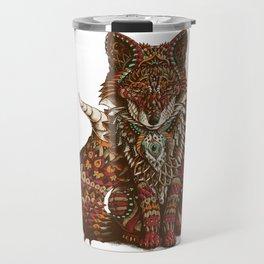 Red Fox (Color Version) Travel Mug