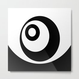 Abstract pattern - black and white. Metal Print