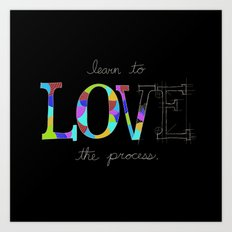 Learn To Love The Process Art Print