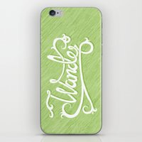 not all who wander iPhone & iPod Skins featuring Not All Who Wander... by Christine Fleming
