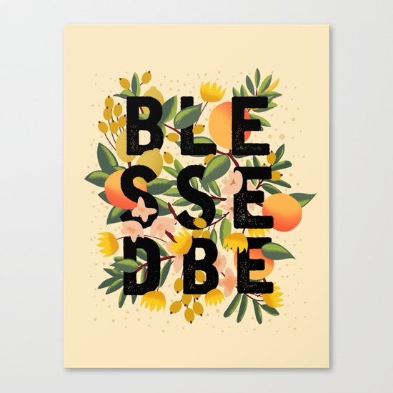 BLESSED BE LIGHT Canvas Print