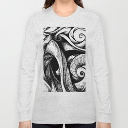 Swirl (black and white) Long Sleeve T-shirt