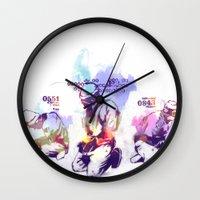 new order Wall Clocks featuring NEW ORDER by Ƃuıuǝddɐɥ-sı-plɹoʍ-ɹǝɥʇouɐ
