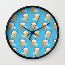 The Leucistic Axolotl Wall Clock