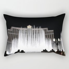Nighttime at the Belagio Fountain, Las Vegas, Nevada Rectangular Pillow