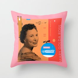 Beyond Curie: Mary Golda Ross Throw Pillow