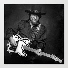 Waylon gitar Canvas Print