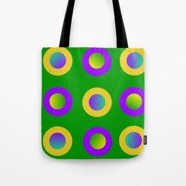 Mardi Gras Polka Dots Tote Bag
