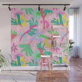 Australian Kangaroo Paw Floral in Pink Wall Mural