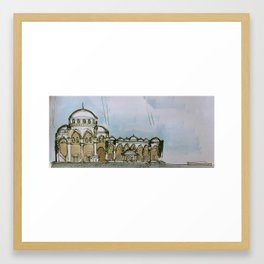 architectural section Framed Art Print