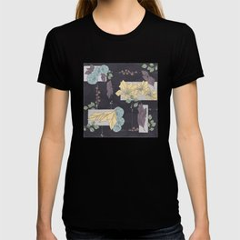 Flower Fracas Puple T-shirt