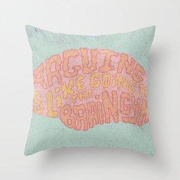 GAVIN McINNES ON ARGUING Throw Pillow