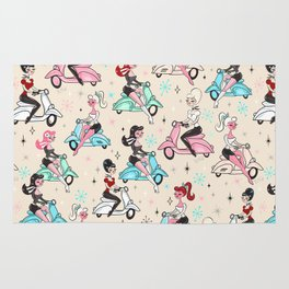 Scooter Girls Pattern Rug