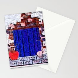 blue door Stationery Cards