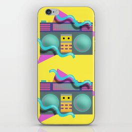 Retro Eighties Boom Box Graphic iPhone Skin