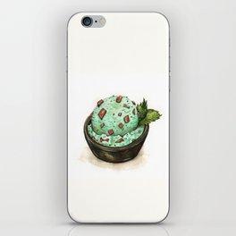 Mint Chocolate Chip Ice Cream iPhone Skin