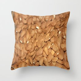 Peeled Almonds From Datca Throw Pillow