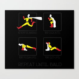 One Punch Man Workout Canvas Print