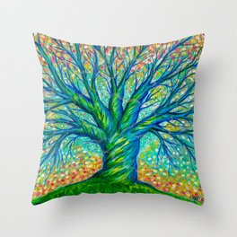 The Faerie Tree Throw Pillow