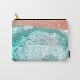 The Break - Turquoise Sea Pastel Pink Beach III Carry-All Pouch