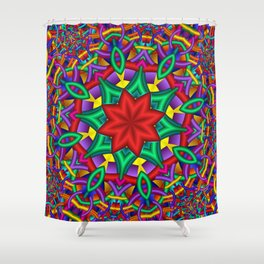 joy and energy -2- Shower Curtain