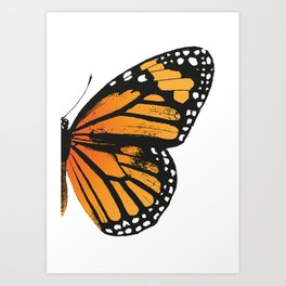 Monarch Butterfly | Right Butterfly Wing | Vintage Butterflies | Art Print