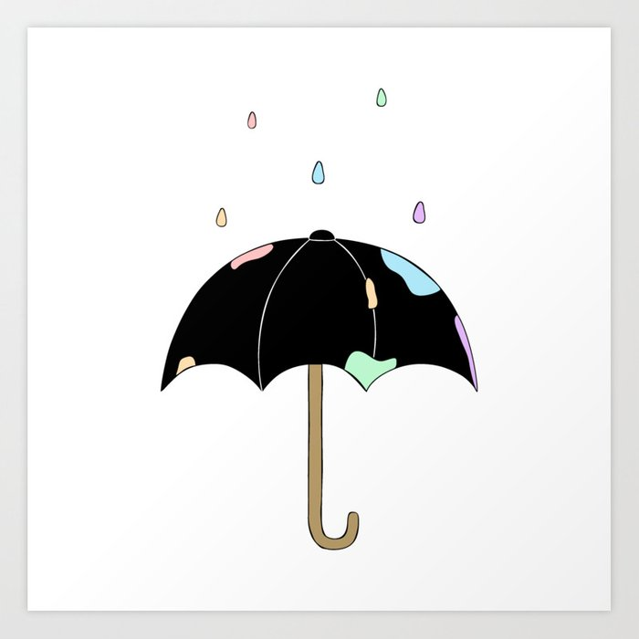 Pastel Rain Art Print