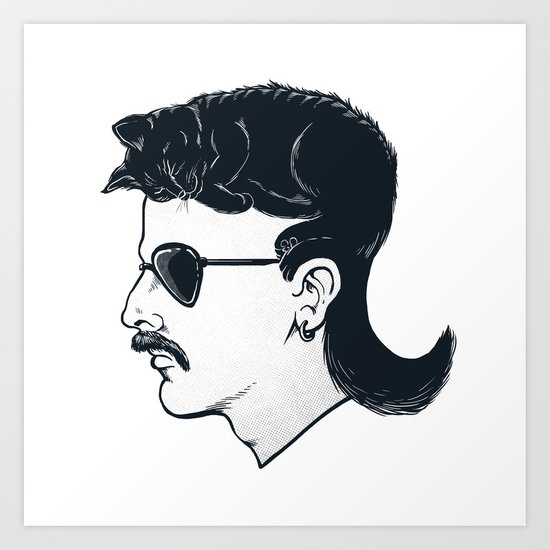 The Mullet Art Print