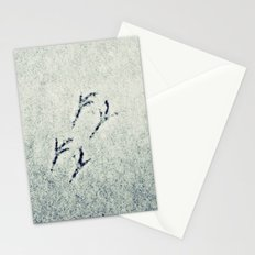 Bird Foot Prints Stationery Cards