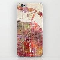 miami iPhone & iPod Skins featuring Miami by Map Map Maps