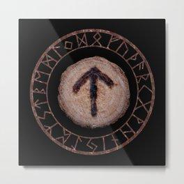 Tiwaz - Elder Futhark rune Metal Print