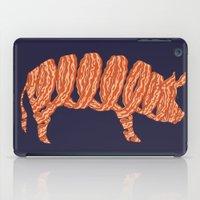 bacon iPad Cases featuring bacon by nino benito
