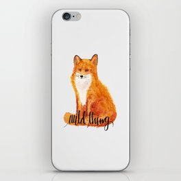 wild thing - fox iPhone Skin