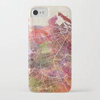 edinburgh iPhone & iPod Cases featuring Edinburgh by MapMapMaps.Watercolors