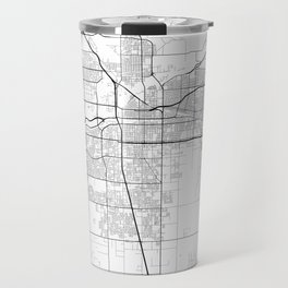 """Minimal City Maps - Map Of Bakersfield, California, United States Travel Mug"
