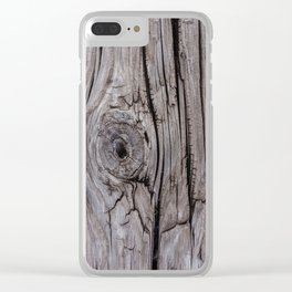Wood Knot Wood Texture Clear iPhone Case