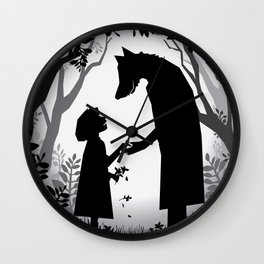 Meeting The Wolf Wall Clock