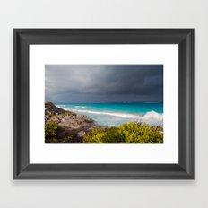 Tulum Storm Framed Art Print